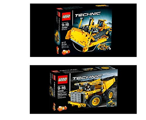 New Lego Technic Bulldozer & Mining Truck Collections (42028 ,42035 ...