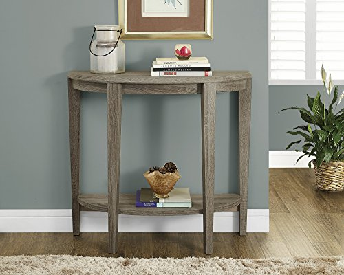 Monarch Specialties Dark Taupe Reclaimed-Look Console Accent Table, 36-Inch (Moon Table compare prices)