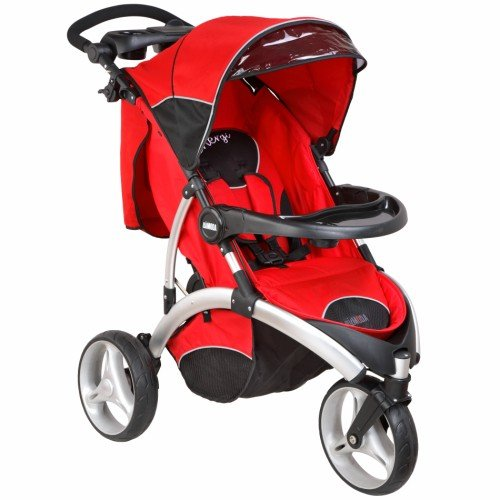 Great Features Of Dream On Me / Mia Moda Energi Full Size Stroller,  Rosso