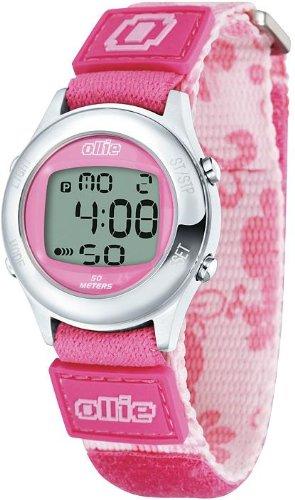 Ladies Pink Digital Velcro Sport Stop Watch by Ollie OLK80007-B