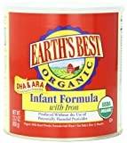 Earths Best Organic Infant Formula with Iron, 23.2 Ounce Canister