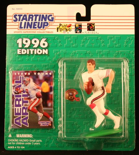 STEVE YOUNG / SAN FRANCISCO 49ERS 1996 NFL Starting Lineup Action Figure & Exclusive NFL Collector Trading Card
