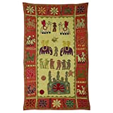 Rajrang Home Décor Embroidered Patch Work Green Wall Hanging