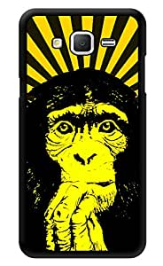 "Humor Gang Tripped Out Monkey Yellow Printed Designer Mobile Back Cover For ""Samsung Galaxy j2"" (3D, Glossy, Premium Quality Snap On Case)"