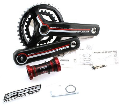 FSA K-FORCE LIGHT 386 175mm 27/40t 2x9 Compact Carbon Crank Mountain, Freeride, Downhill Bike Crankset MegaExo Bottom Bracket