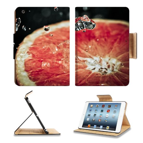 Close Up Grape Fruit Water Drop Apple Ipad Mini Flip Case Stand Smart Magnetic Cover Open Ports Customized Made To Order Support Ready Premium Deluxe Pu Leather 8 Inch (205Mm) X 5 1/2 Inch (140Mm) X 11/16 Inch (17Mm) Luxlady Ipad Mini Professional Ipadmin