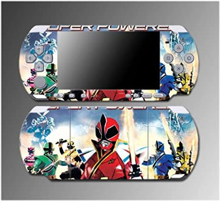 Power Rangers MMPR Super Samurai Video Game Vinyl Decal Sticker Cover Skin Protector #5 for Sony PSP Slim 3000 3001 3002 3003 3004 Playstation Portable