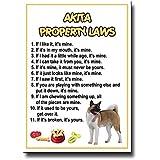 Akita Property Laws Fridge Magnet Funny