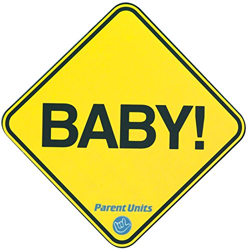 Parent Units Baby Car Magnet, Yellow