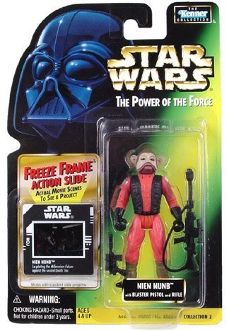 Star Wars: Power of the Force Freeze Frame Nien Nunb Action Figure by Kenner