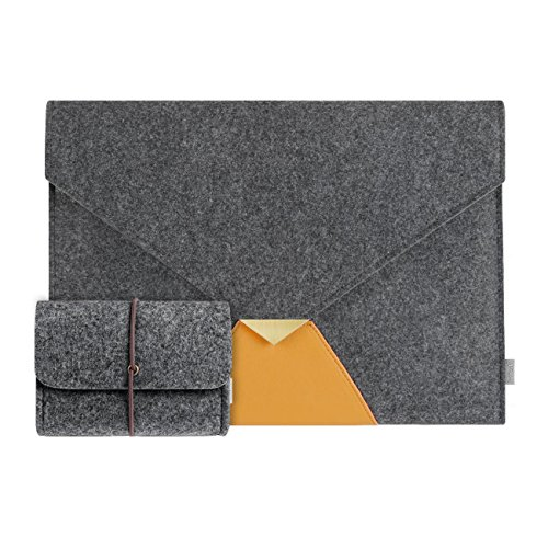 Inateck 13.3 Inch MacBook Air/ Macbook Pro with Retina Display Sleeve Case Cover Carrying Case, with 4-in-1 Mouse Pad Mat/ Cleaning Rug/ Protection Cloth - Dark Gray (Macbook Pro 4 1 compare prices)