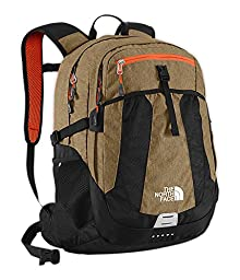 The North Face Unisex Recon Utility Brown Heather/Power Orange Backpack