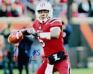 Teddy Bridgewater Autographed  Hand Signed Louisville Cardinals 8x10 Photo -... by Real Deal Memorabilia
