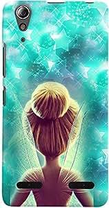 PrintVisa 3D-LA6000-D7698 Cartoon Fairy Case Cover for Lenovo A6000