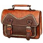 BEIER® SY6 Thick lines Hasp Owl Retro Messenger bags Messenger Shoulder handbag (brown)