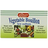 Organic Gourmet Organic Vegetable Boullion Cubes, Low Sodium, 2.54-Ounce Container (Pack of 12)