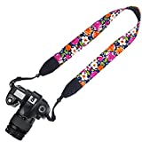 Elvam Camera Neck Shoulder Belt Strap for DSLR / SLR / Nikon / Canon / Sony / Olympus / Samsung / Pentax ETC - Flower Floral 07