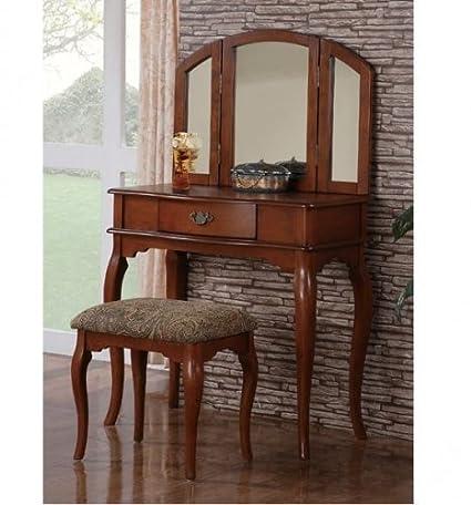 Furniture2go F4068 Josephine Traditional Style Walnut