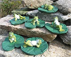 Frogs on Lily Pads (Set of 6)