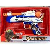 Survivor Gunfight Animated gun with Moving Double Barrels, Lighted Spinner, Laser Sight & Sound
