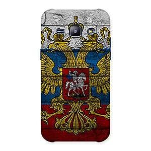 Impressive Peacock Multicolor Back Case Cover for Galaxy J1