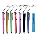 BIRUGEAR 7 Pc Universal Pen Style Stylus for Samsung Galaxy S6/ S6 Edge Android Smartphone Tablet and Other Capacitive Touchscreen Devices with *Cable Tie*