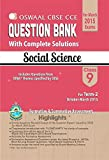 Oswaal CBSE CCE Question Bank with complete solutions For Class 9 Term II (October to March 2015) Social Science