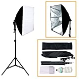 Photography Studio 400W Softbox Continuous Lighting Soft Box Light Stand Kit TKT-11