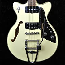 Duesenberg Starplayer Fullerton TV Semi-Hollow - Vintage White with Hard Case