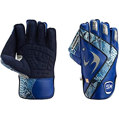 SM Vigour Wicket Keeping Gloves Player's Edition, Men's  (Blue/Light Blue)