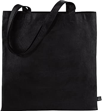 CENTRIX NEW RECYCLED TOTE SHOPPER BAG - 10 COLOURS (BLACK)