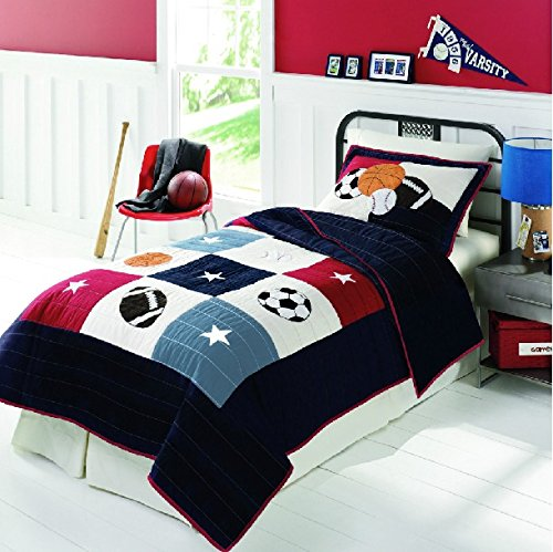 FADFAY Home Textile,Kids Bedding Set Boys Soccer Bedding Sets,Twin/Full