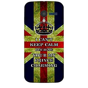 Skin4gadgets I CAN'T KEEP CALM BECAUSE YOU'R MY PRINCE CHARMING - Colour - UK Flag Phone Skin for MOTOROLA MOTO X (XT-1055,1053)