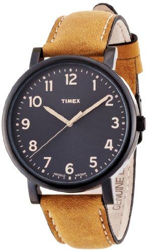 TIMEX モダンイージーリーダー ブラックサンレイダイアル オイルドレザーベルト T2N677 メンズ