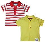 Fs Mini Klub Boys' Regular Fit Cotton T-Shirt- Pack of 2 (88Ebtts0047 Y_4-6 - 9 Months, Yellow, 6 - 9 Months)