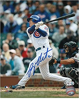 """Ryan Theriot Chicago Cubs Autographed 8"""" x 10"""" White Jersey Photograph - Fanatics Authentic Certified"""