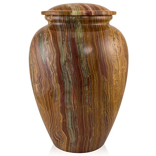 Perfect Memorials Large Tiger Eye Marble Grecian Cremation Urn (Urns Marble compare prices)