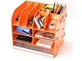 DIY Woolen Office Desk Organizers Folder Holder Dest Storage Organizer (orange)