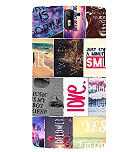 PRINTSWAG QUOTES Designer Back Cover Case for ONE PLUS ONE