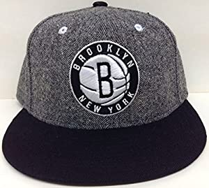 Salt & Pepper Brooklyn Nets Adidas Snapback Wool by NBA