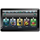 """SoundStream VR-931NB Inteq Single DIN 9.3"""" Touch Screen LCD / DVD AV Receiver with USB / SD / Bluetooth 2.1 + EDR, Home Dockable"""