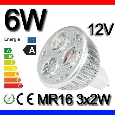 1 Pcs High Power 6W Mr16 Led Warm White Light Bulb Energy Saving Light