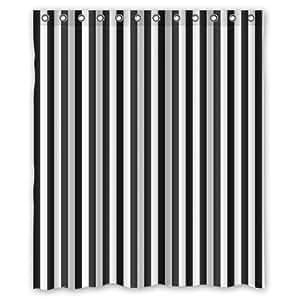 Black and white stripe custom polyester for Black and white striped bathroom accessories
