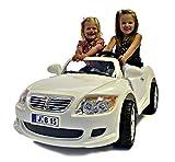 NEW DESIGN KIDS RIDE ON WHITE 12V 2 MOTORS 2 SEATS RECHARGEBLE BMW-Z4/MERSEDES STYLE CAR + PARENTAL REMOTE CONTROL+DIGITAL RADIO+MP3 INPUT (BMWZ4/MERCEDES-WHITE)