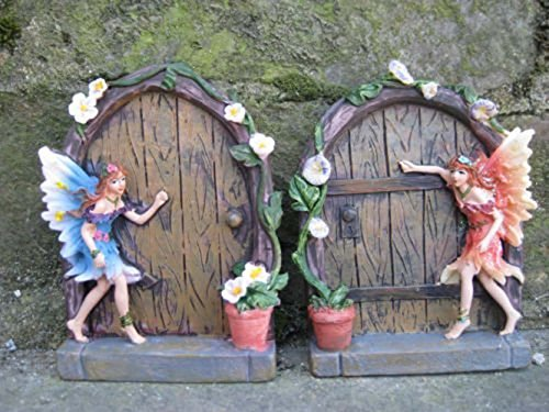 set-of-2-sparkle-fairy-door-garden-home-ornament