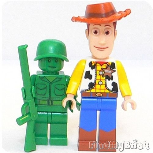 Lego-Disney-Toy-Story-Woody-Green-Army-Minifigures
