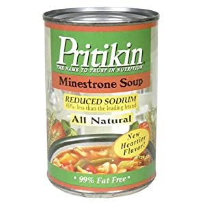 Pritikin Minestrone Soup, 15 Ounce Tins (Pack of 12)