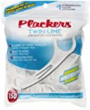Plackers Twin-Line Dental Flossers, 150Ct