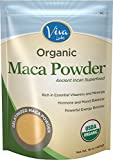 Viva Labs Organic Maca Powder: Gelatinized for Enhanced Bioavailability, Non-GMO, 1lb Bag