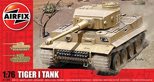 Airfix A01308 1:76 Scale Tiger I Tank Military Vehicles Classic Kit Series 1